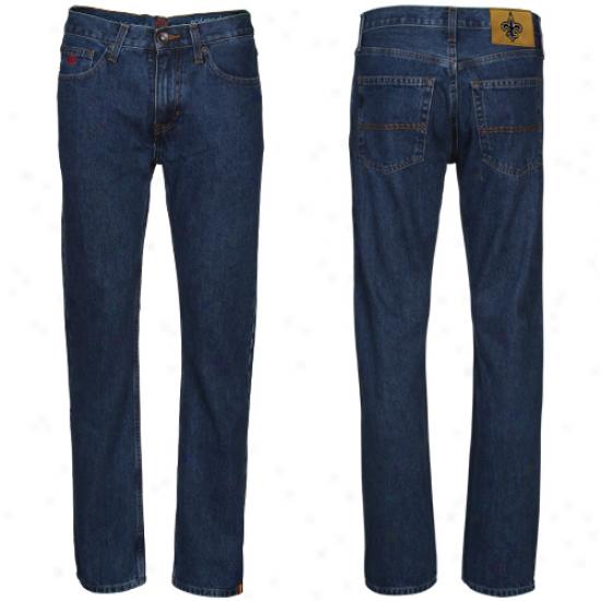 New Orleans Saints Navy Blue Gridiron Classic Jeans