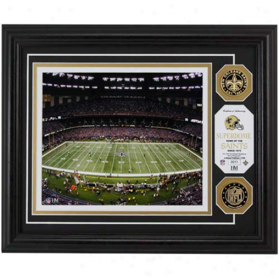 New Orleans Saints Superdome 24kt Gold Coin Photomint