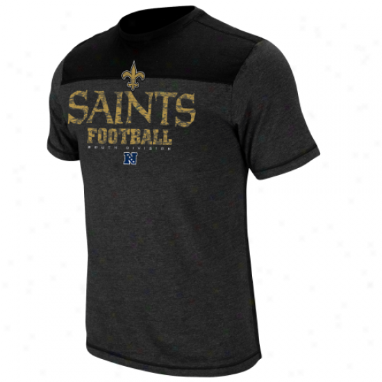 New Orleans Saints Victory Gear Iv Premium Heathered T-shirt - Charcoal