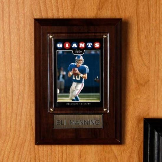 New York Giants #10 Eli Manning 4'' X 6'' Plaque