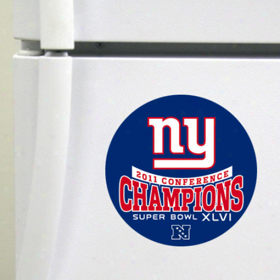 New York Giants 2011 Nfc Champions Die-cut Magnet