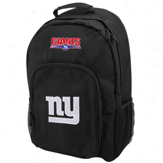 New York Giants Black Southpaw Backpack