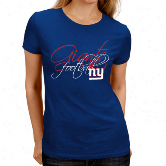 New York Giants Ladies Franchise Fit Ii T-shir t- Royal Blje