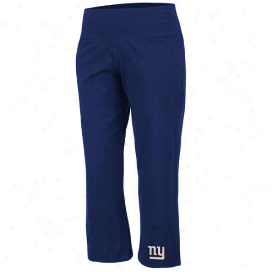 New York Giants Ladies Royal Blue Classic Stretch Cropped Pants