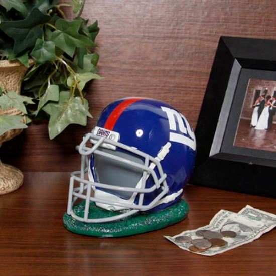New York Giants Resin Helmet Bank