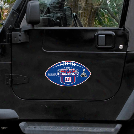 """new York Giants Super Bowl Xlvi Champions 12"""" Magnet"""