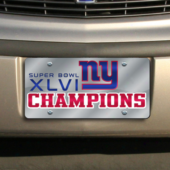 New Yotk Giants Super Bowl Xlvi Champions Laser-cut License Plate