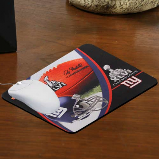 Recent York Giant super Bowl Xlvi Champions Neoprene Mouse Pad