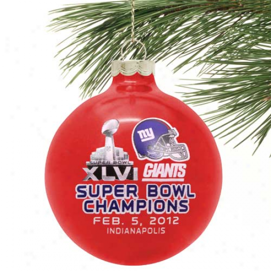 New York Giants Super Bowl Xlvi Champions Small Ornament