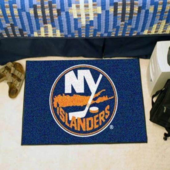 """new York Islanders 19"""" X 29"""" Navy Blue Logo Startter Mat"""