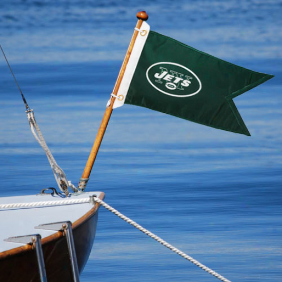 Nee York Jefs 18.5'' X 12' Green Boat Flag