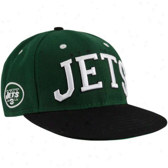 New York Jets Green-black Big Body  Snapback Adjustable Hat