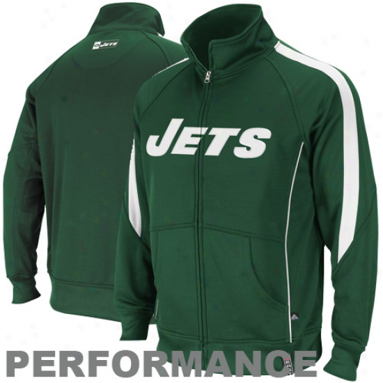 New York Jets Green Tailgate Time Full Zip Track Jerkin