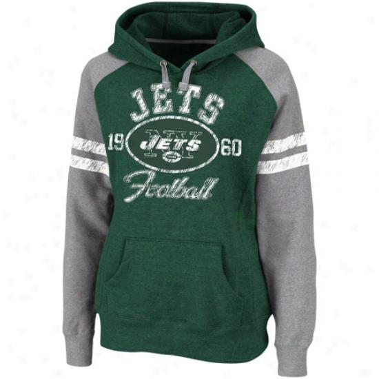 New York Jets Ladies Green Plan Day Heroes Ii Pullover Hoodie Sweatshirt