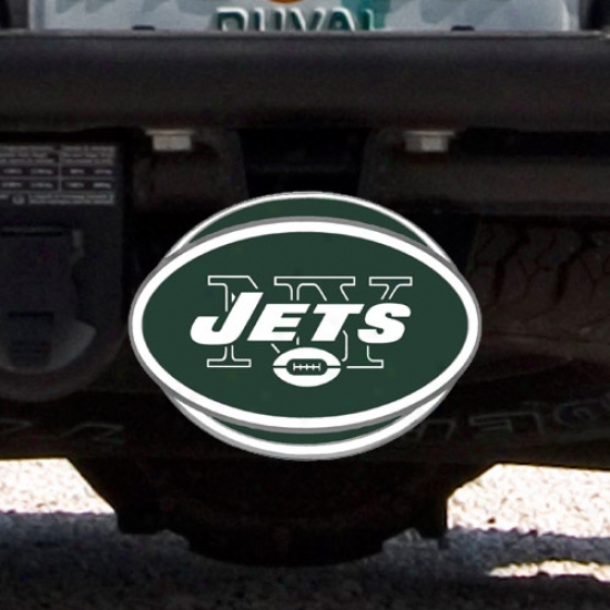 Starting a~ York Jets Logo Hitch Cover