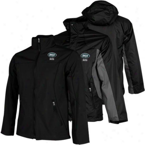 New York Jets Mountain Trek System Full Zip Jacket - Black