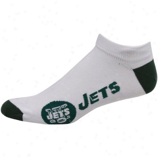 New York Jets White Team Logo Ankle Socks