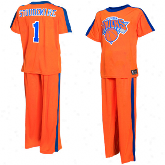 New York Knicks Amare Stoudemire Young men Player Pajama Decline - Orange