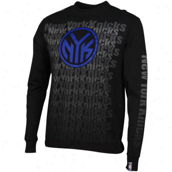 New York Knicks Pregnant Game Long Sleeve T-shirt - Black