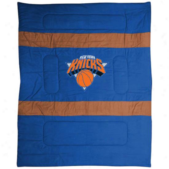 New York Knicks Royal Blue Mvp Full/queen Size Comforter