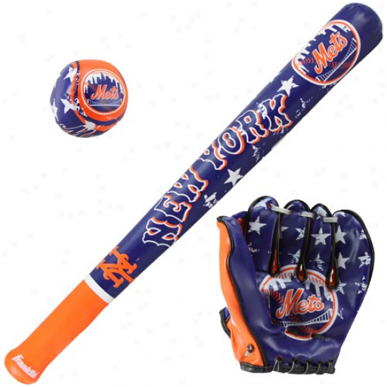 New York Mets Soft Ball, Bat & Glove Set