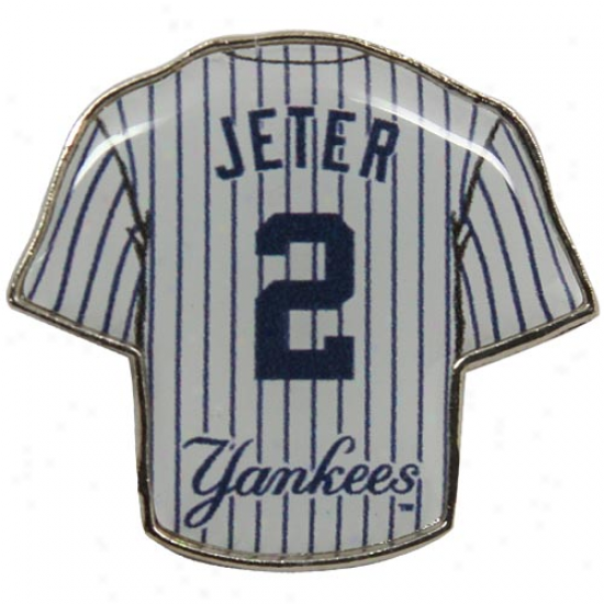 New York Yankees #2 Derek Jeter Team Jersey Pin