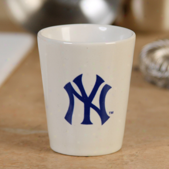 New York Yankees 2oz. Souvenir Ceramic Shot Glass