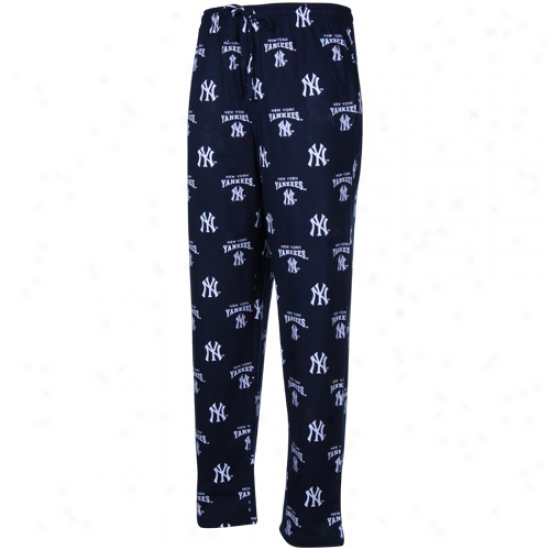 New York Yankees Navy Blue Suoreme Pajama Pants