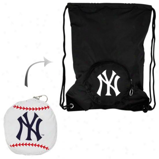 New York Yankees Tuck-way Collapsible Backsack - Black