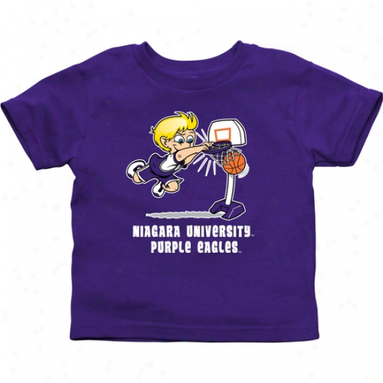 Niaagara Purple Eagles Babe Boys Basketball T-shirt - Purple