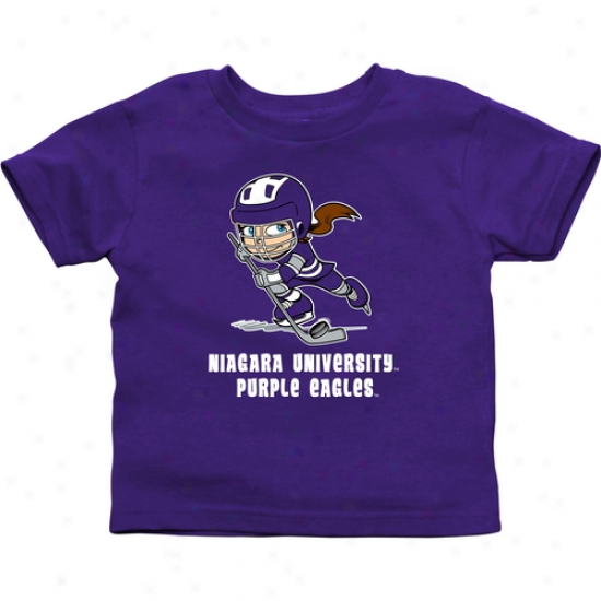 Niagara Purple Eagles Infant Puck Princess T-shirt - Purple