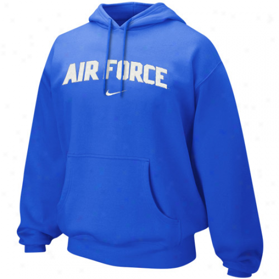 Nike Air Force Falcons Royal Livid Classic Arch Hoodie Sweatshirt