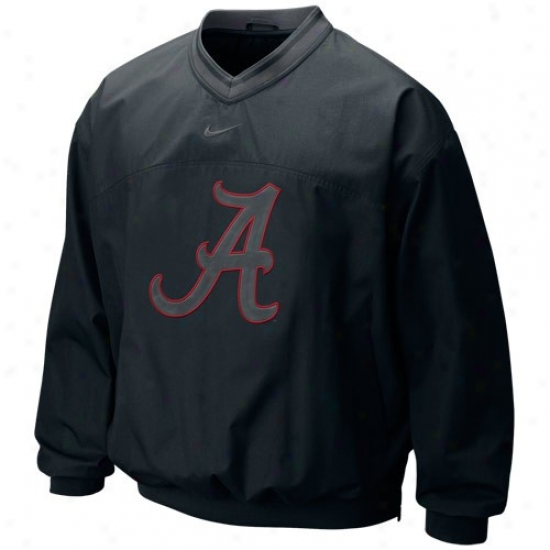 Nike Alabama Crmson Tide Black Claassic Seasonal Windshirt