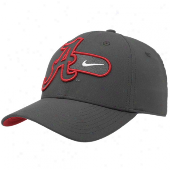 Nike Alabama Crimson Tide Charcoal Legacy 91 Training Swoosh Adjustable Hat