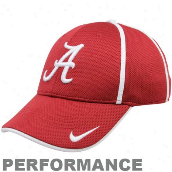 Nike Alabama Crimson Tide Crimson Legacy 91 Conference Swoosh Ii Flex Performance Hat