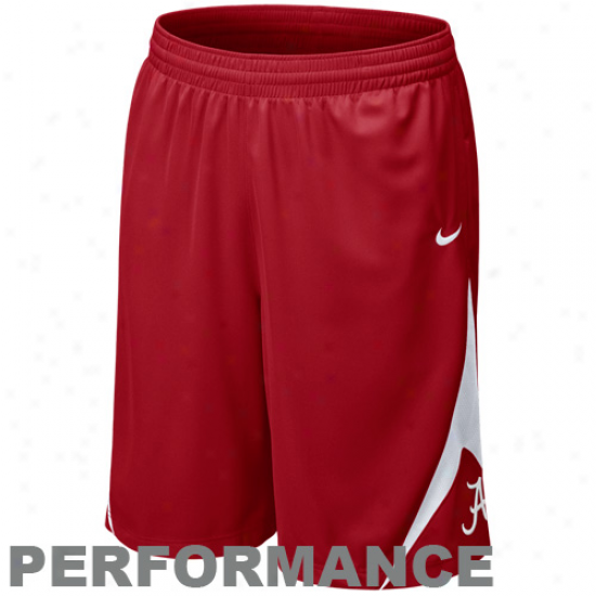 Nike Alabama Crimson Tide Crimson Pre-game Performance Shorts
