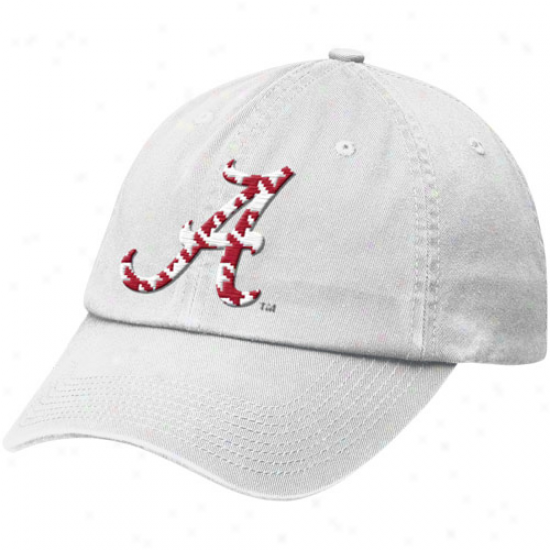 Nike Alabama Crimson Tide Wite Heritage 86 Tailbavk Adjustable Hat