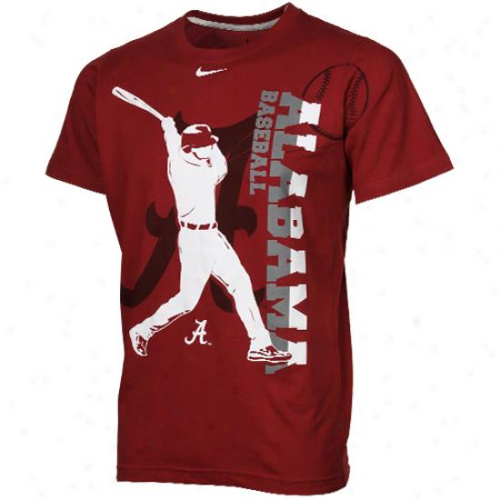 Nike Alabama Crimson Tide Youth Baseball Graphic T-shirt - Crimson