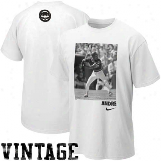Nike Andre Dawson Chicago Cubs Cooperstown Player T-shirt - White