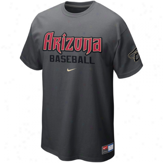 Nike Arizona Diamondbacks Away Practice T-shirt - Grapphite