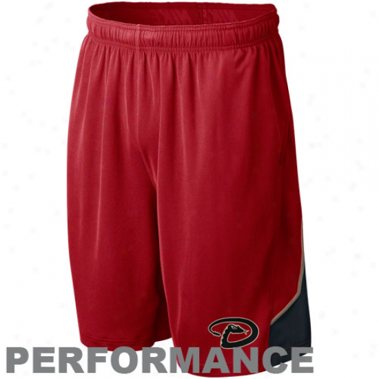 Nike Arizona Diamondbacks Red Mlb Authentic Collection Pefrormance Training Shorts