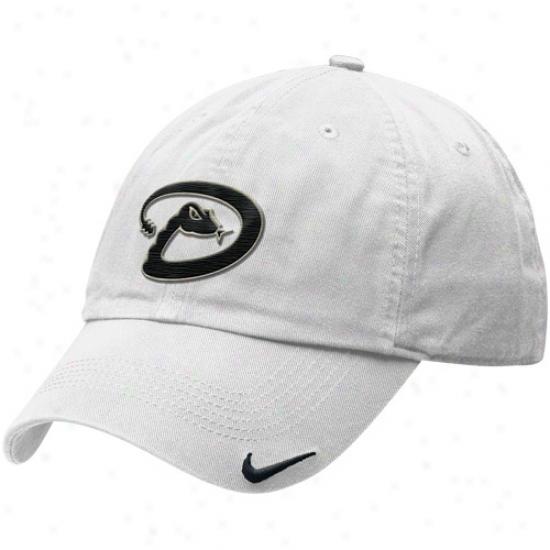 Nike Arizona Diamondbacks Relaxed Stadium Adjustable Hat - White