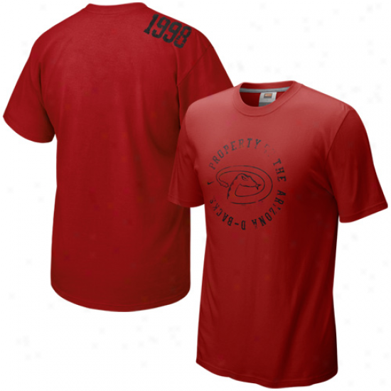 Nike Arizona Diamondbaacks Sedona Red Around The Horn T-shirt