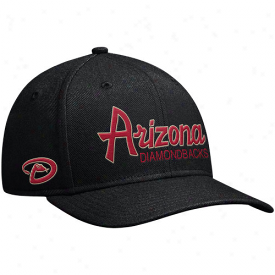 Nike Arizona Diamondbacks Straight Up Snapback Hat - Black