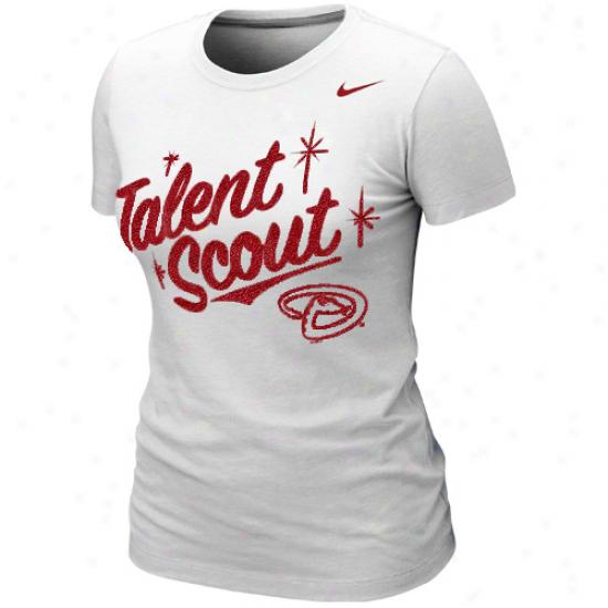 Nike Arizona Diamondbacsk Women's Mlb Attitude T-sbirt - White