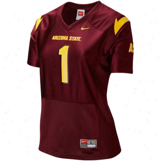 Nike Arizona State Day-star Devils #1 Women's Replica Football Jersey - Maroon