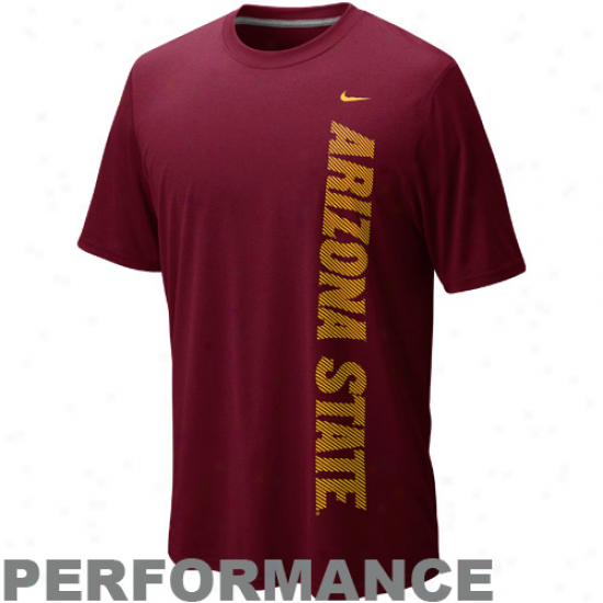 Nike Arizona State Sun Devils Graphic Legend Performance T-shirt - Maroon