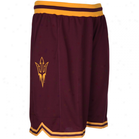 Nike Arizona State Sun Devils Maroon Replica Mesh Player Basketball Shorts