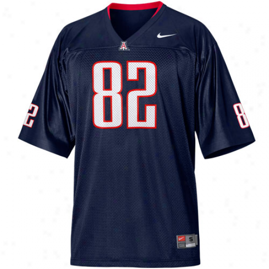 Nike Arizona Wilecats #82 Football Replica Jersey - Navy Blue