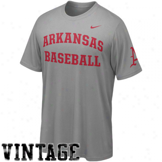 Nike Arkansas Razorbacks Baseball Vintage Premium T-shirt - Charcoal